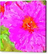 Pop Art Floral Canvas Print