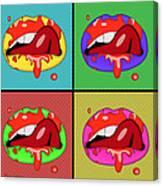 Pop Art Lips  Canvas Print