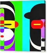 Pop Art People 4 Row Canvas Print