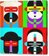 Pop Art People Quattro Canvas Print