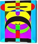Pop Art People Totem 7 Canvas Print