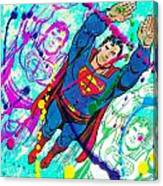 Pop Art Superman Canvas Print