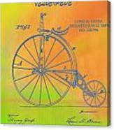 Pop Art Velocipede Patent Canvas Print