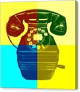 Pop Art Vintage Telephone 1 Canvas Print