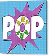 Pop Art Words Splat 01 Canvas Print