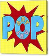 Pop Art Words Splat 02 Canvas Print