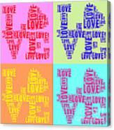 Pop Love Collage Canvas Print