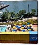 Pop Up Pool In Brooklyn Bridge Park Canvas Print