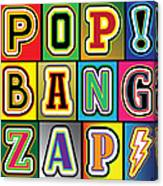 Pop Words Canvas Print