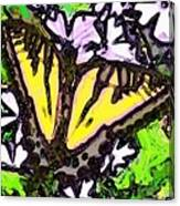 Popart Butterfly Redux Canvas Print