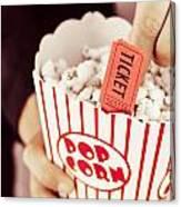 Popcorn Box Office Canvas Print