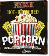Popcorn Please Canvas Print