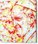 Pope Francis Profile -watercolor Portrait Canvas Print