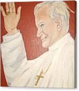 Pope Johnpaul II Canvas Print