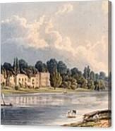 Popes Villa At Twickenham, 1828 Canvas Print