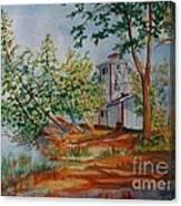 Poplar Point Lighthouse Canvas Print