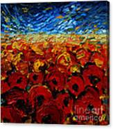Poppies 2 Canvas Print