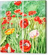 Poppies Collage I Canvas Print