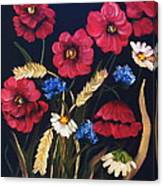 Poppies In Oils Canvas Print
