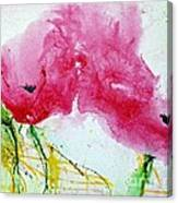 Poppies In Summer - Flower Painting Canvas Print
