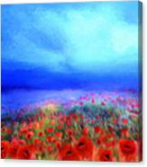 Poppies In The Mist Canvas Print