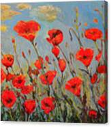 Poppies In The Wind Canvas Print