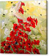 Poppies Lady Canvas Print