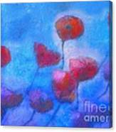 Poppy Blues Canvas Print