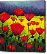 Poppy Corner IIi Canvas Print