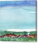 Poppy Field- Landscape Painting Canvas Print