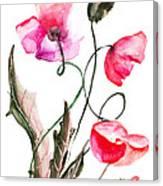 Poppy Flowers Canvas Print