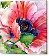 Poppy In The Pink Canvas Print