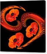 Poppy Love Canvas Print
