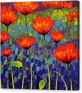 Poppy Meadow   Cropped 2 Canvas Print