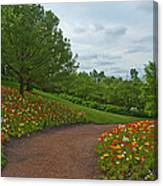 Poppy Path Canvas Print