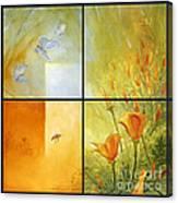 Poppy Pollination Canvas Print