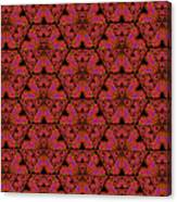 Poppy Sierpinski Triangle Fractal Canvas Print