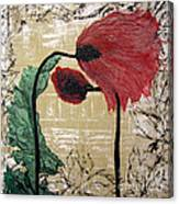 Poppys Entwined Canvas Print
