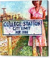Population 2184 Canvas Print
