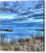 Poquoson Yacht On Stormy Morning Canvas Print