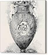 Porcelain Vase, Manufactured At Coalbrooke Dale Canvas Print