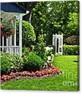 Porch And Garden Canvas Print