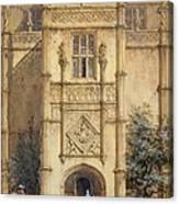 Porch At Montacute, 1842 Canvas Print