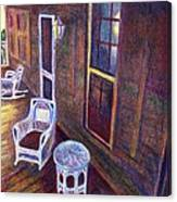 Porch In Golden Light Canvas Print