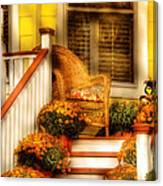 Porch - In The Light Of Autumn Canvas Print