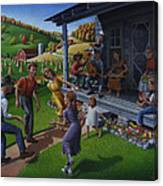 Porch Music And Flatfoot Dancing - Mountain Music - Appalachian Traditions - Appalachia Farm Canvas Print