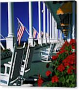 Porch Of The Grand Hotel, Mackinac Canvas Print