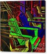 Neon Porch Perches Canvas Print