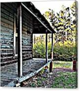 Porch Side Of Old House Canvas Print