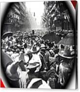 Porfirio Diaz Celebrating Republican President Benito Juarez July 1910 April 25 1911   Canvas Print
